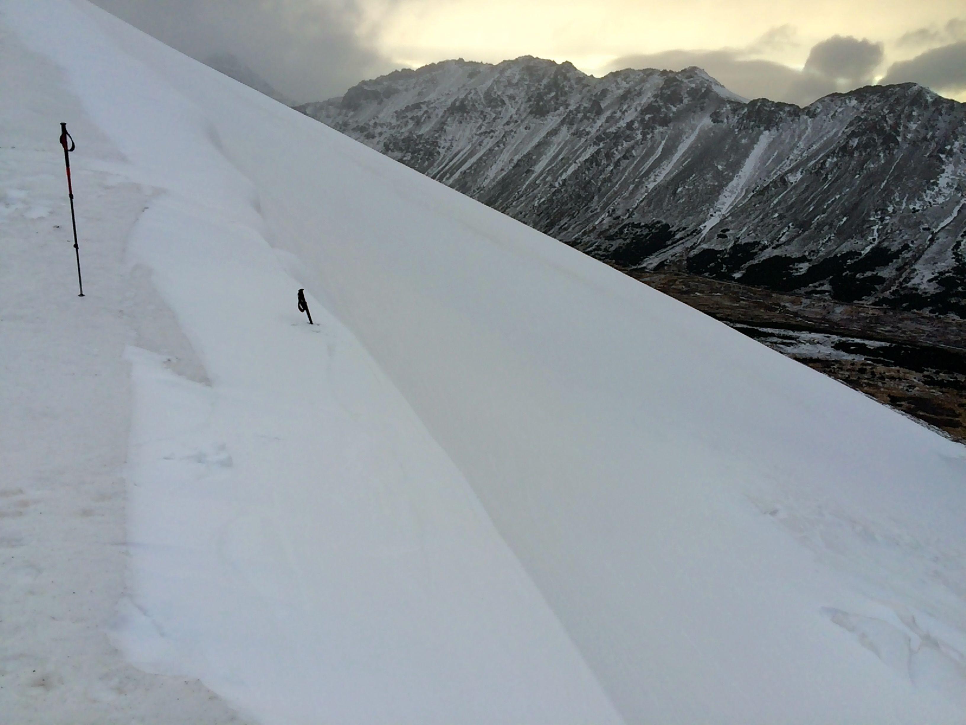 omalley gully snow depth 2