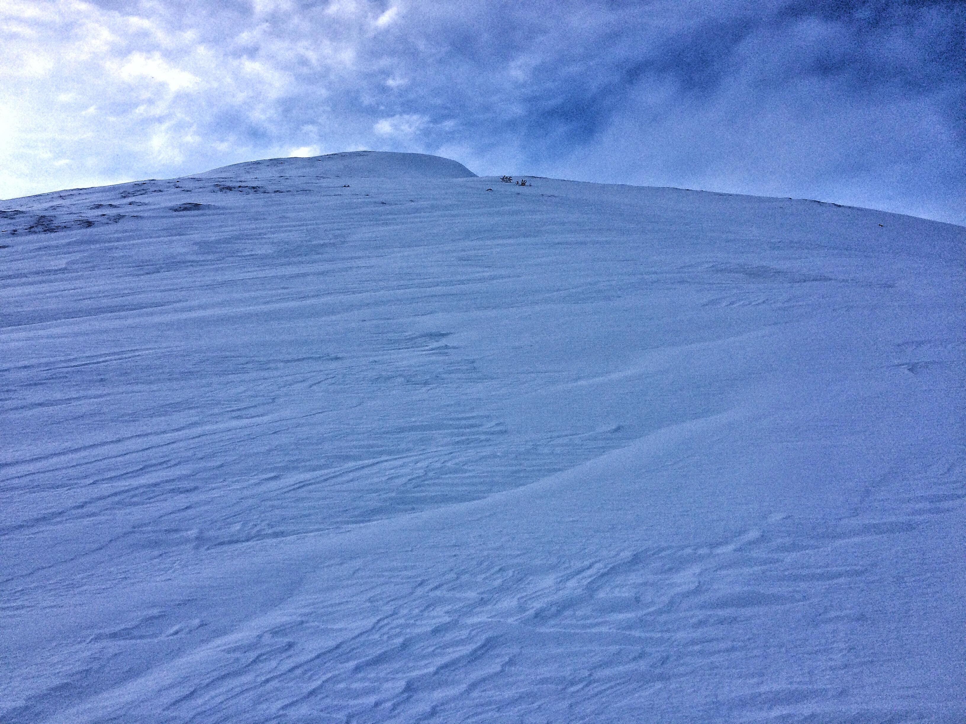 Hunter Pass wind slabs