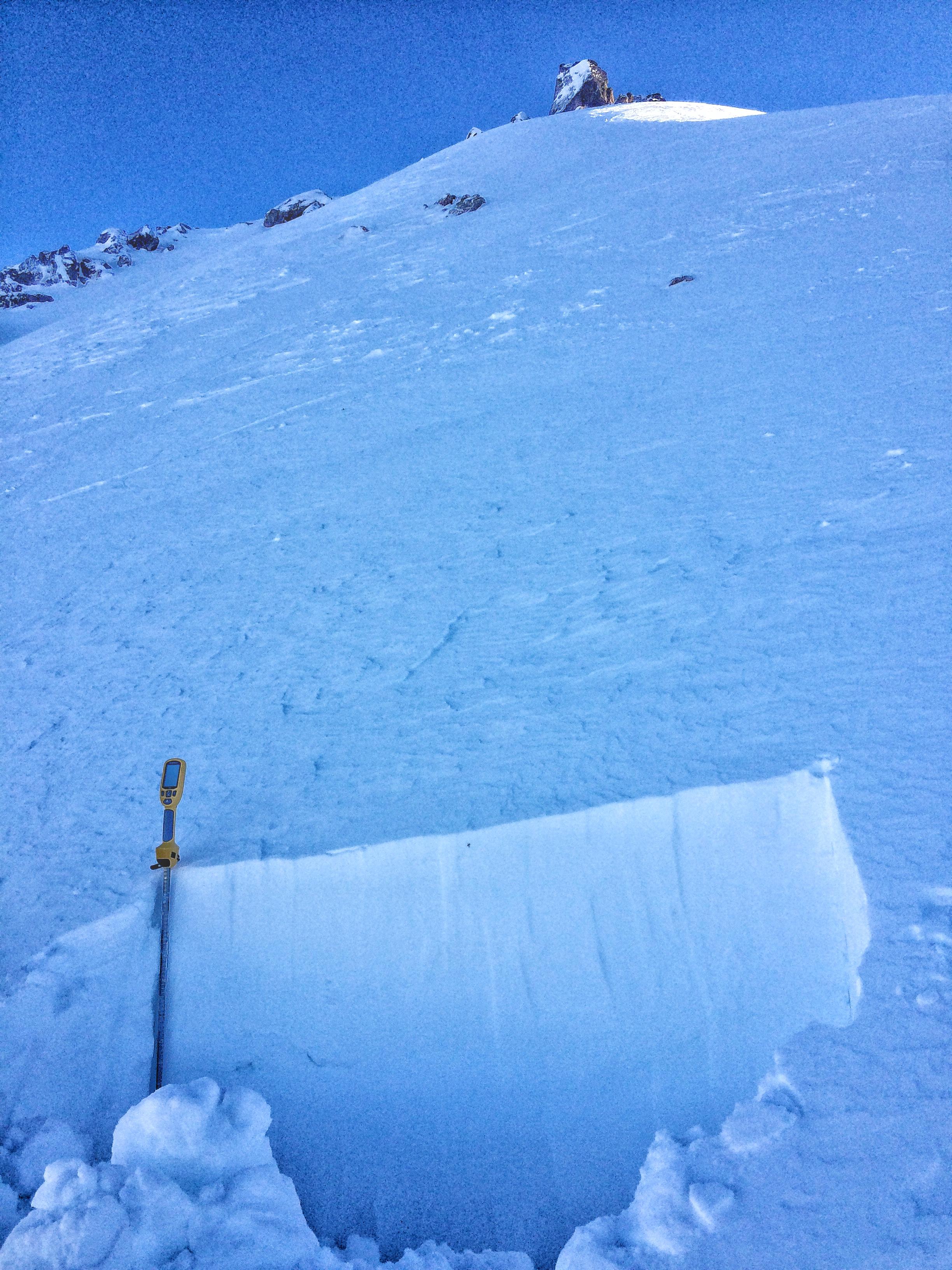 Peak 3 snowpit