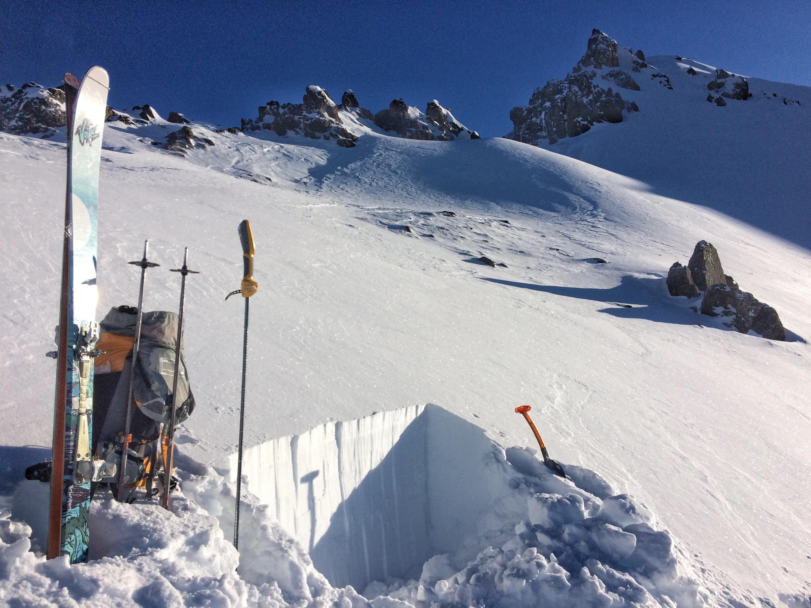Peak 4 snowpit