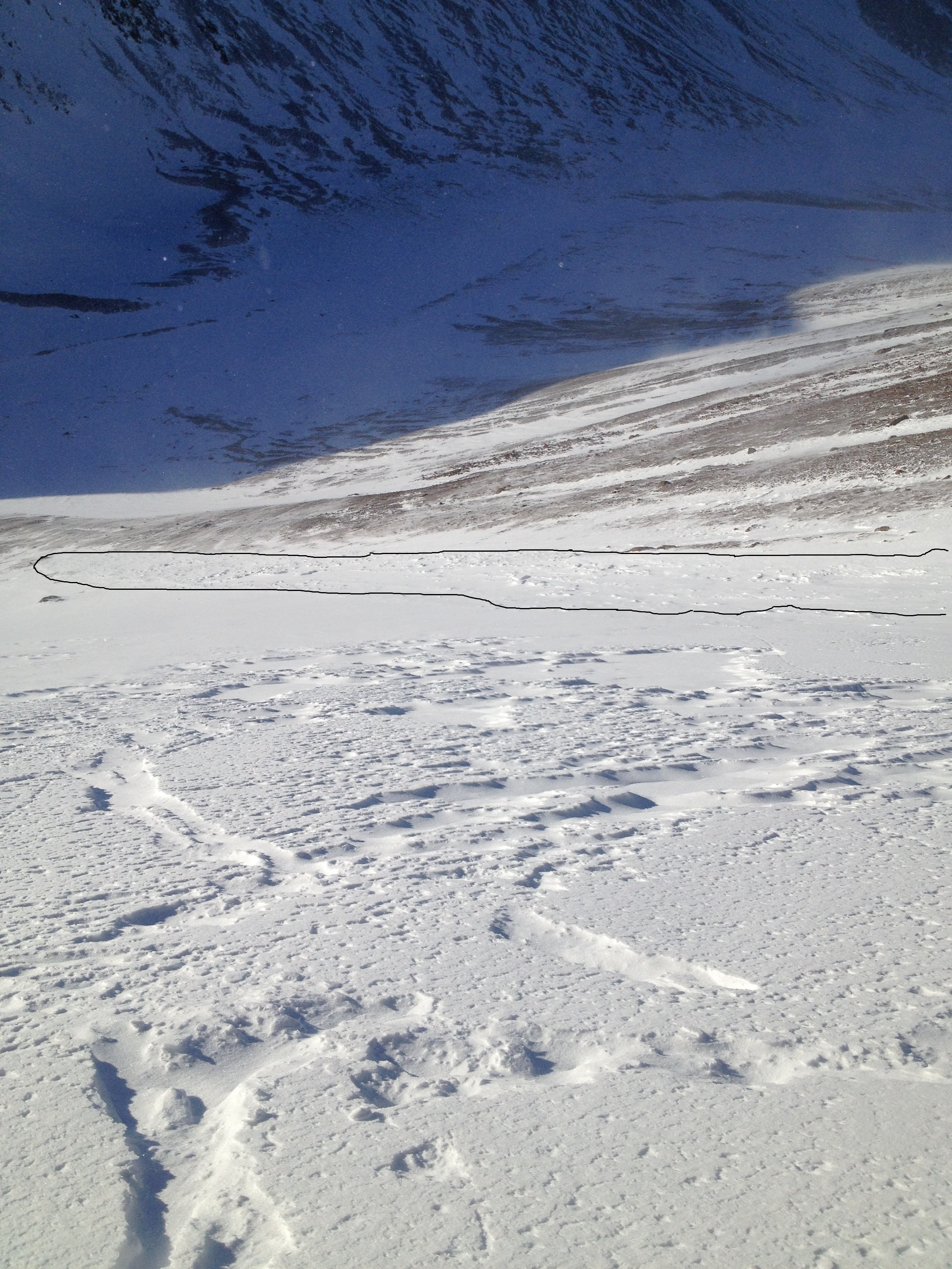 slide path and debris